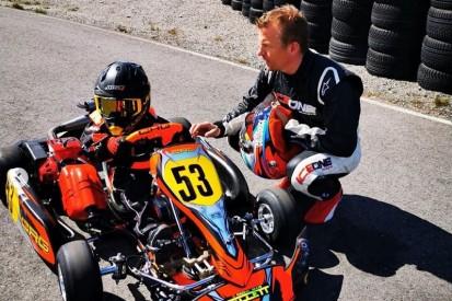 Im Leihkart gegen den Sohn: Robin hängt Kimi Räikkönen schon ab!