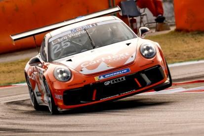 Porsche-Supercup Barcelona 2020: Larry ten Voorde gewinnt turbulentes Rennen
