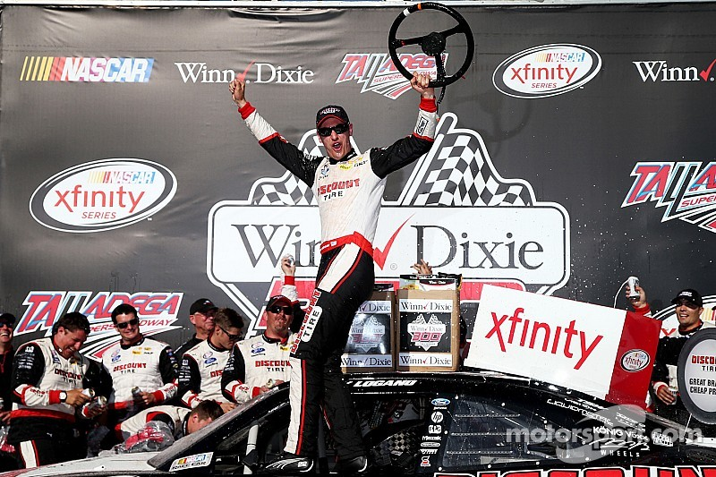 Logano victorious in Xfinity race at Talladega