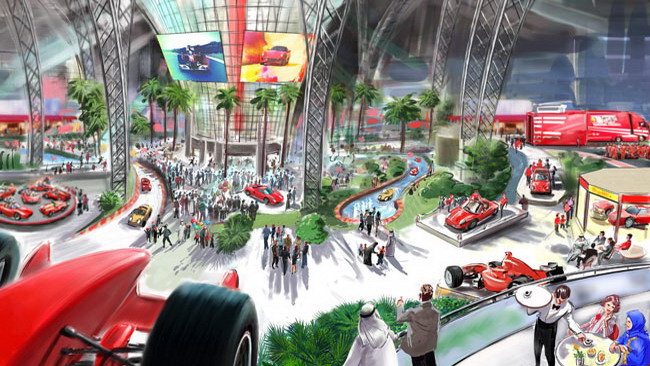 Ferrari World Abu Dhabi apre fra 100 giorni