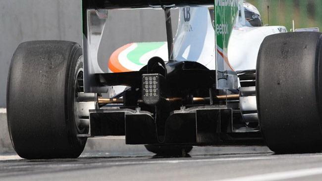 La Force India rinuncia agli scarichi soffianti