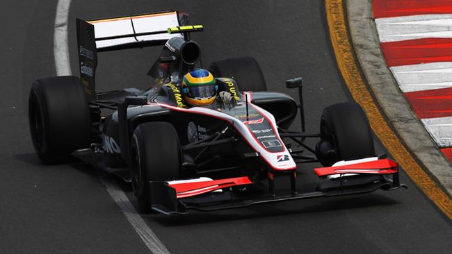 HRT ai test di Valencia con la vettura 2010