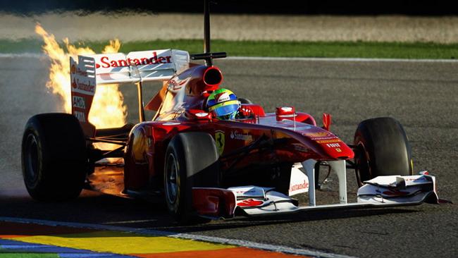 Valencia, Day 3: principio d'incendio sulla Ferrari