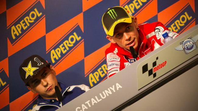 Lorenzo, Rossi e Stoner protagonisti in conferenza