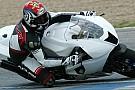 Hofmann in pista a Valencia con l'Aprilia CRT