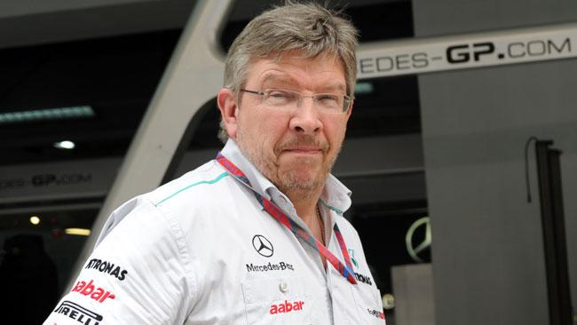 La Mercedes a Barcellona senza Ross Brawn