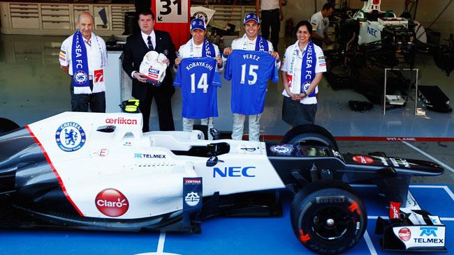Le maglie del Chelsea per i piloti Sauber