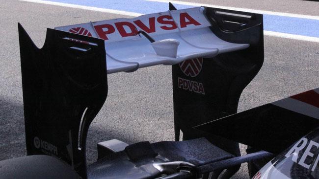 La Williams aveva l'ala posteriore più scarica