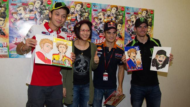 Rossi, Pedrosa e Crutchlow alle prese con i Manga