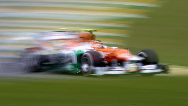 La Force India contesta la prima safety car