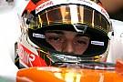 Jules Bianchi gira con la Force India a Jerez