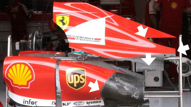 Ferrari F138: ecco il nuovo il cofano motore