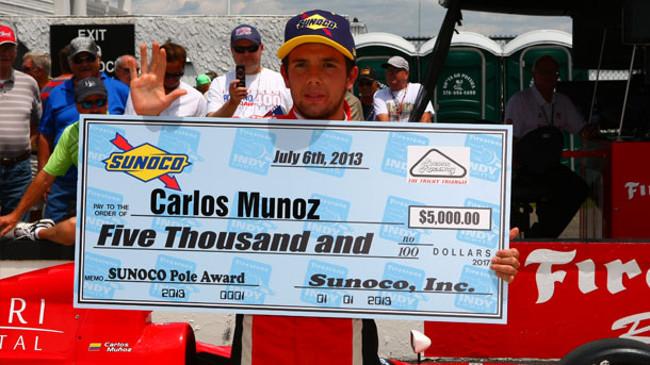 A Pocono ecco la quinta pole position per Muñoz