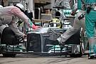 Mercedes: un problema di materiale al muso di Nico