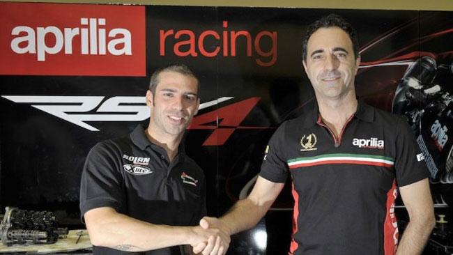 L'Aprilia ha ufficializzato l'ingaggio di Marco Melandri