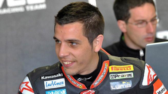 David Salom ha provato la Kawasaki Evo ad Aragon