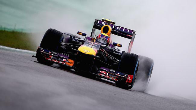 Interlagos, Libere 3: Webber nel bagnato