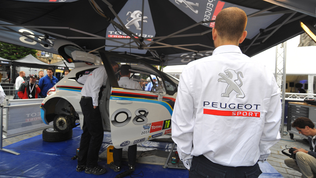 La Peugeot lotterà per il Campionato Costruttori ERC