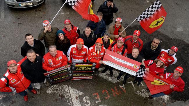 Schumacher: i Ferrari Club arrivano a Grenoble