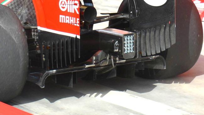 Ferrari: promosso il diffusore posteriore modificato