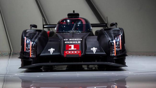 L'Audi presenta la nuova livrea delle R18 a Le Mans