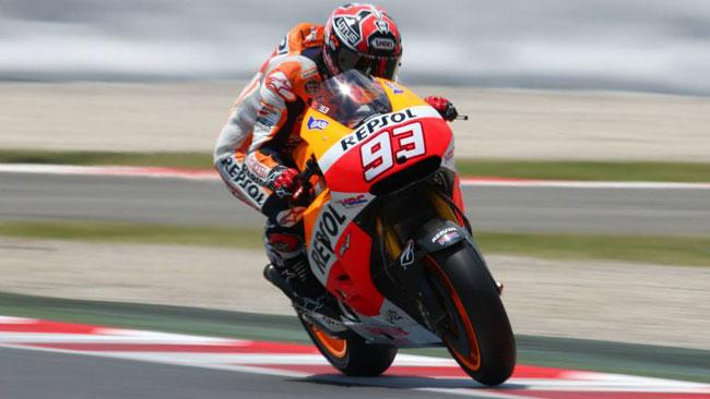 Marquez brilla anche nei test collettivi di Barcellona