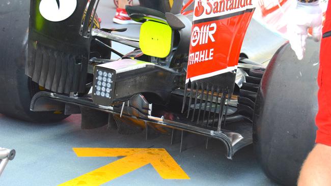 Ferrari: più carico dal diffusore posteriore