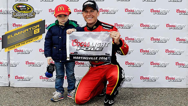McMurray porta Ganassi in pole a Martinsville