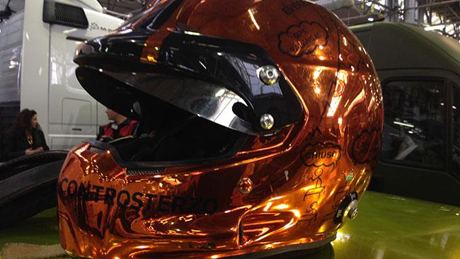 Bettega: il casco di Bertelli non passa inosservato