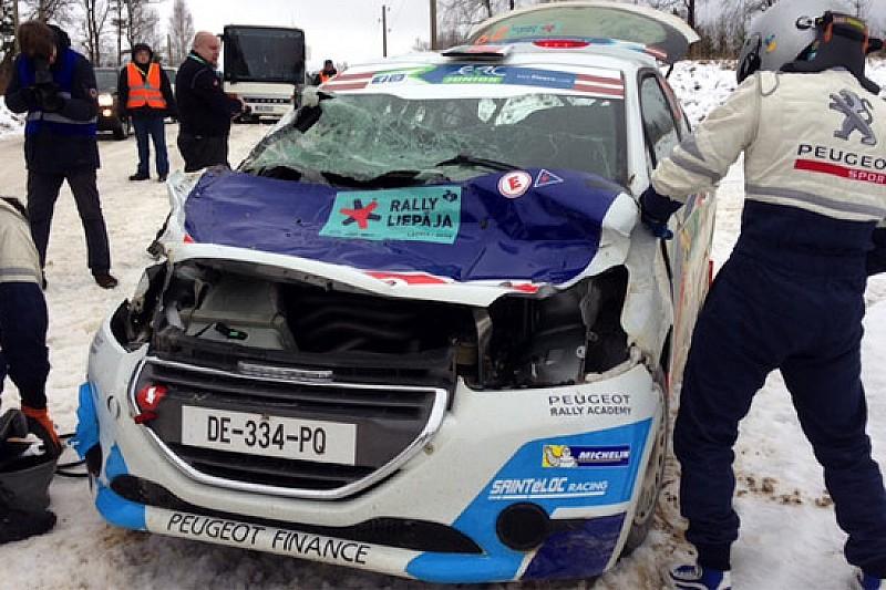 Diogo Gago ha distrutto la sua 208 R2 in Lettonia!