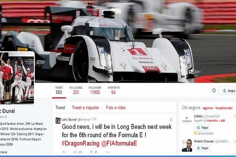 Loïc Duval con Dragon Racing anche in California