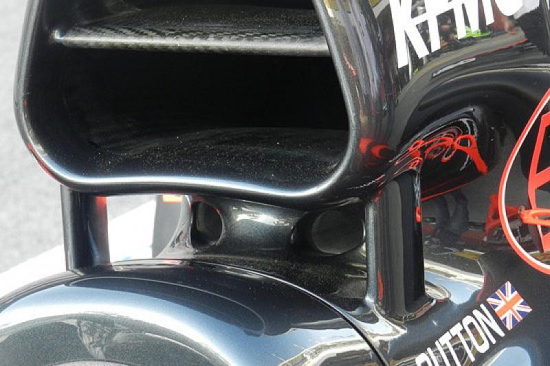 McLaren: due fori di raffreddamento sotto l'airbox