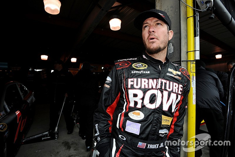 Truex gets heated at his hometown track