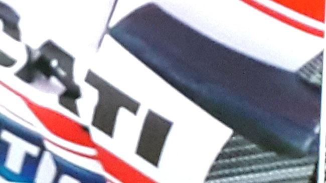La Ducati adatta le alette ai cordoli alti di Barcellona