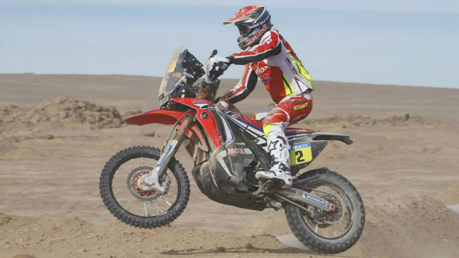 Dakar, Moto, Tappa 10: vince Barreda, ma ride Coma