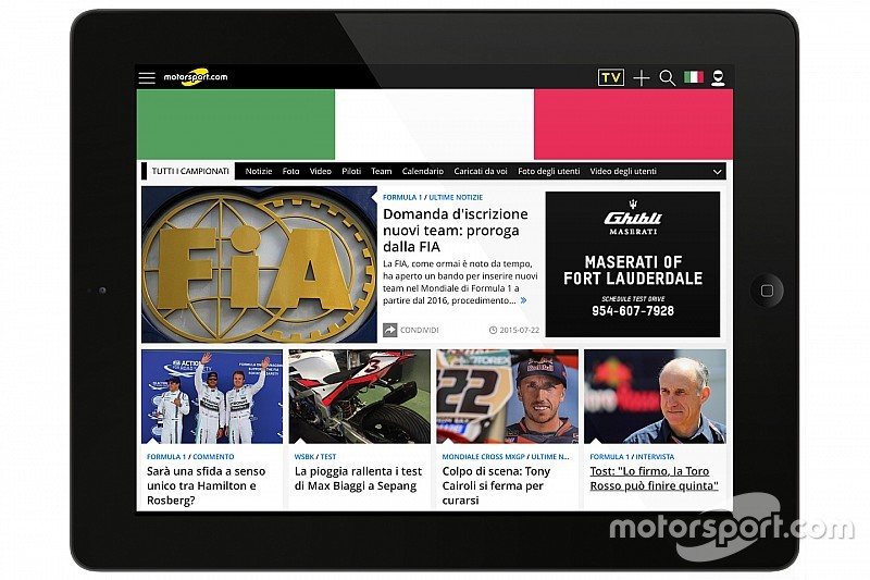 Motorsport.com lanza nueva plataforma digital en Italia