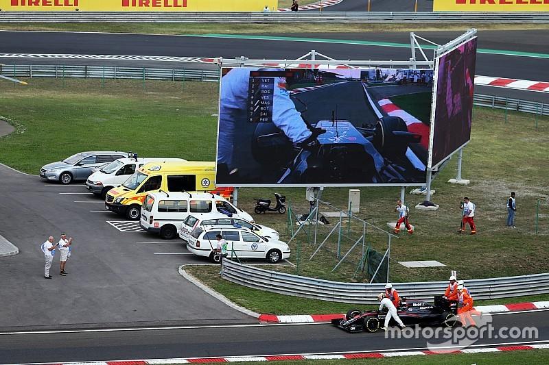Alonso terminó la clasificación empujando su McLaren