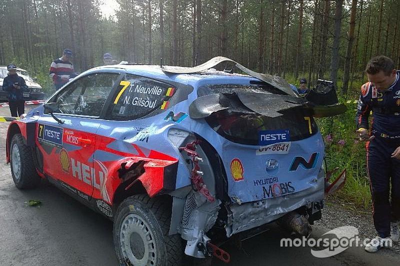 Нёвилль попал в аварию на шейкдауне в Финляндии