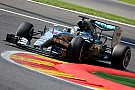 Hamilton storms to Spa pole, Rosberg seals an all silver front row