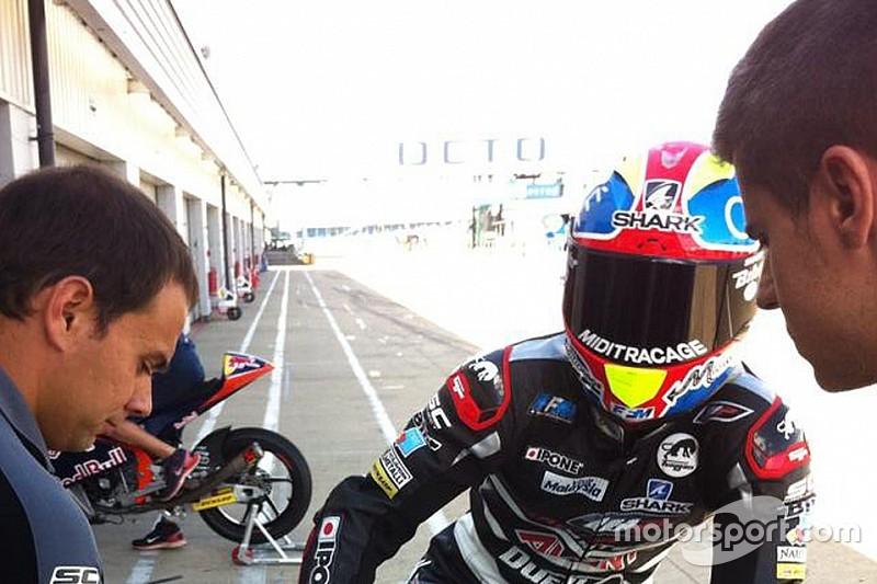 Johann Zarco cambia i colori del casco a Silverstone