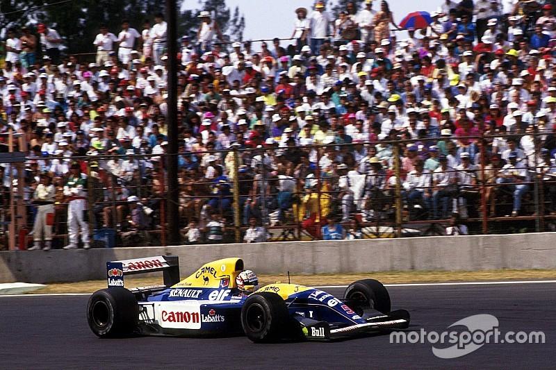 Le dernier virage du circuit de Mexico baptisé au nom de Mansell