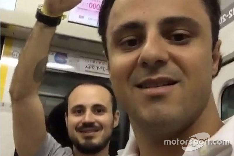 """Massa pega """"metrozão bruto"""" em Tóquio; veja dia dos pilotos"""