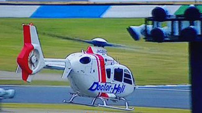 De Angelis trasferito in elicottero, ma è cosciente