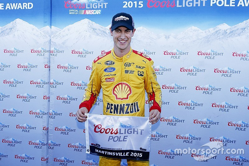 Joey Logano's hot streak continues with Martinsville pole