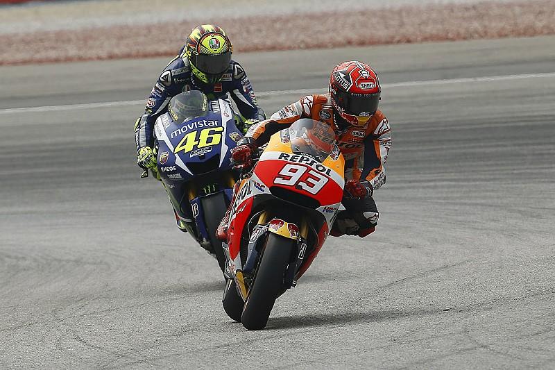 Márquez no bajó el ritmo intencionalmente: Rossi
