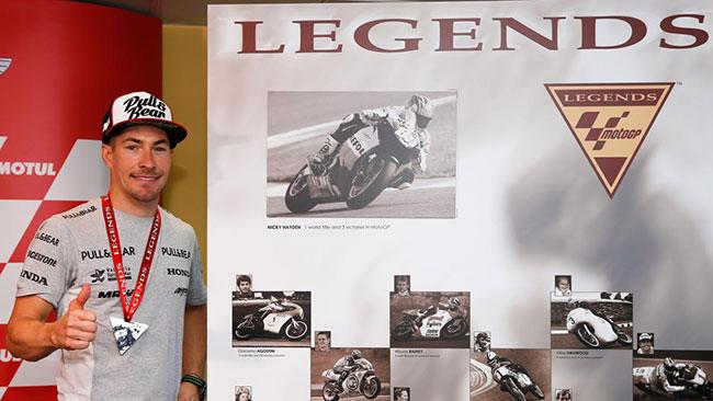 "Nicky Hayden è ufficialmente una ""MotoGp Legend"""