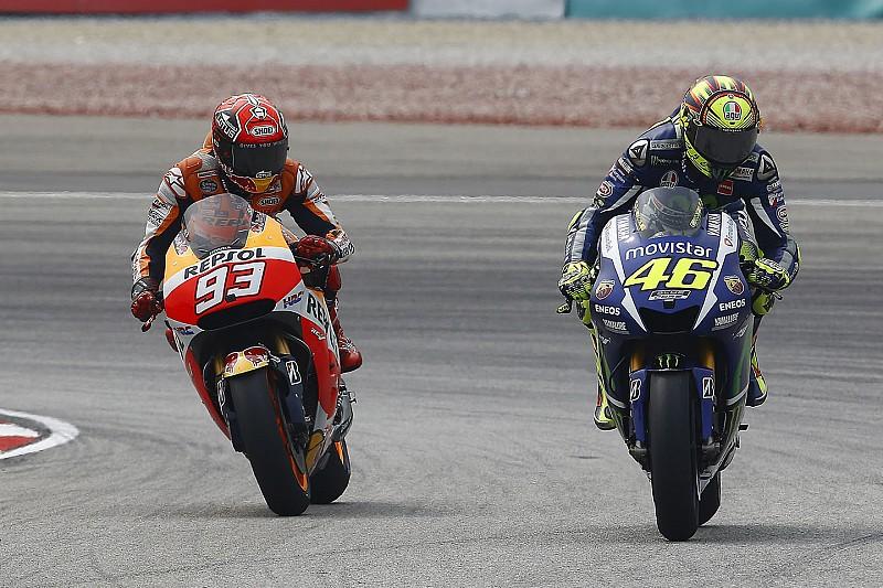 """""""No sé dónde va a terminar"""" con Márquez, dice Rossi"""