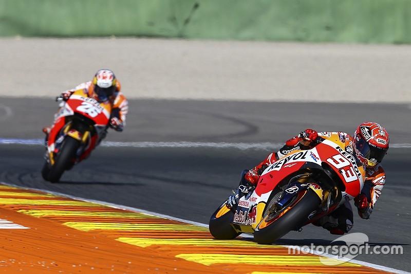 Valencia, Day 1, Ore 12: le Honda dettano il ritmo