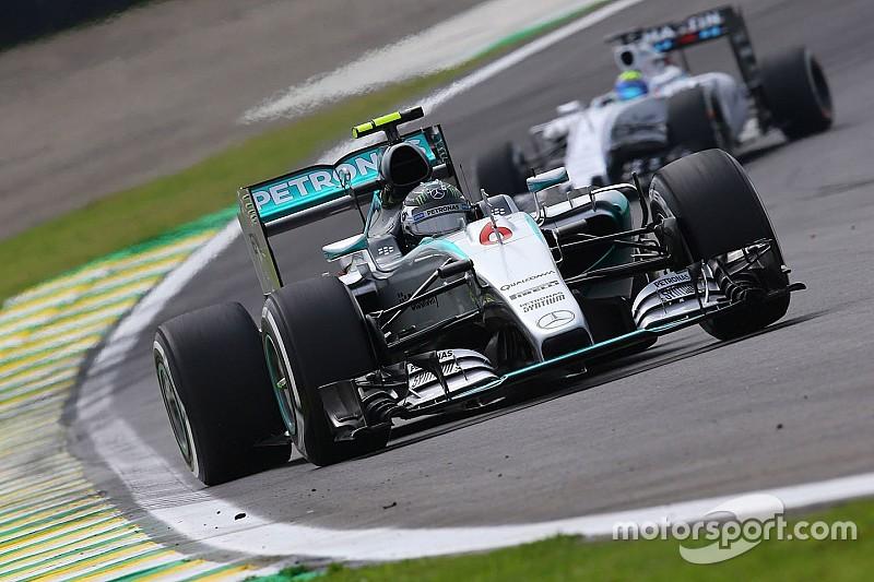 巴西大奖赛FP2:梅赛德斯继续霸占前二 罗斯伯格领跑