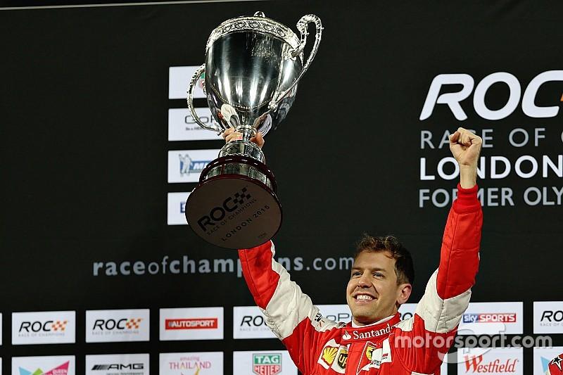 """Vettel blikt terug: """"Eindelijk heb ik de Race of Champions gewonnen"""""""